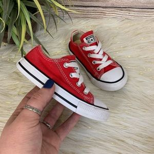 Red Converse Toddler Size 7c